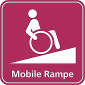 Piktogramm: Mobile Rampe